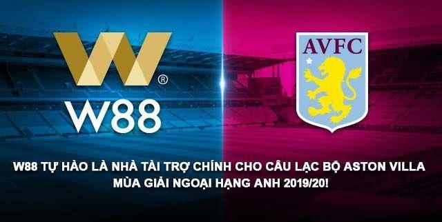 Nhà cái W88 là nhà tài trợ chính của câu lạc bộ AVFC